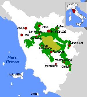 Cartina Geografica Della Toscana.Cartina Del Chianti Classico Mappa Del Chianti In Toscana